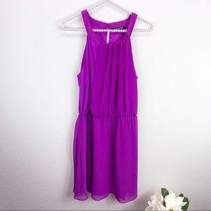 Gianni Bini Purple High Neck Dress